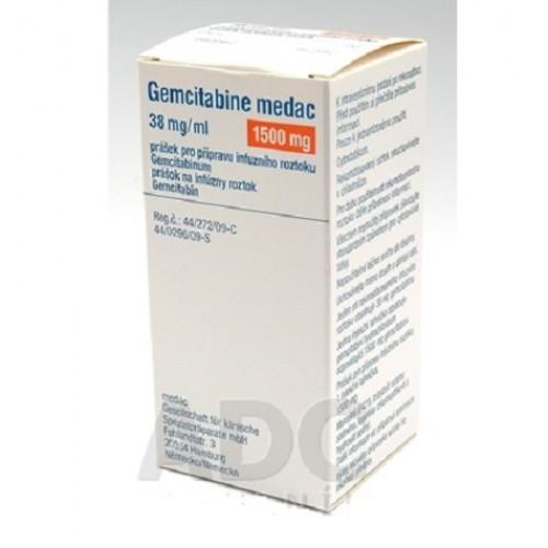 GEMCITABINE MEDAC 1500 MG