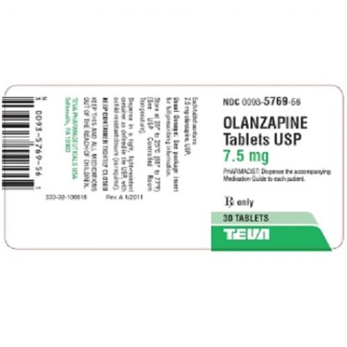 OLANZAPINE TEVA 7.5 MG