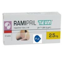 RAMIPRIL TEVA 2.5 MG