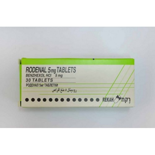 RODENAL 5 MG TABLETS