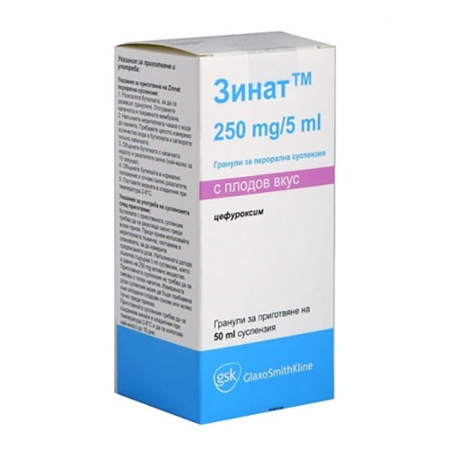 ZINNAT SUSPENSION 250 MG/5 ML